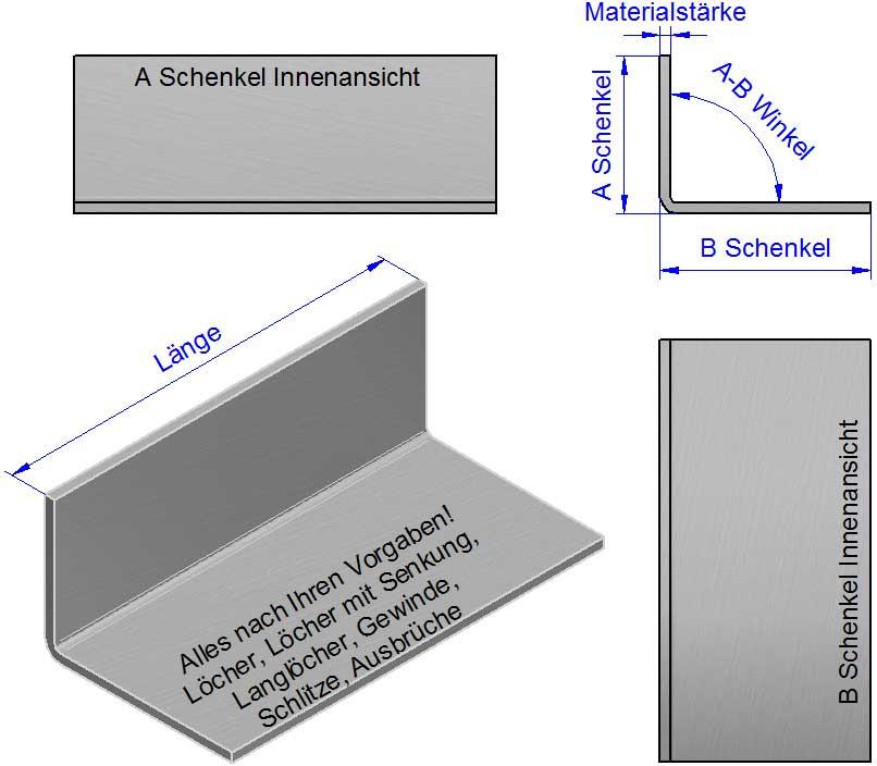 L-Winkel, L-Kantbleche, L Profile nach Maß