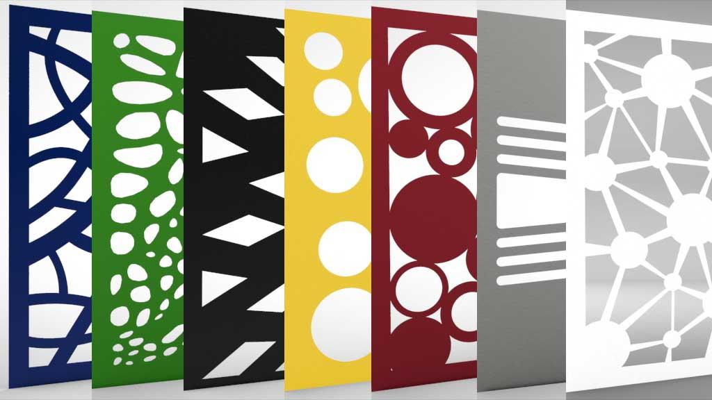Design Lochbleche Musterübersicht