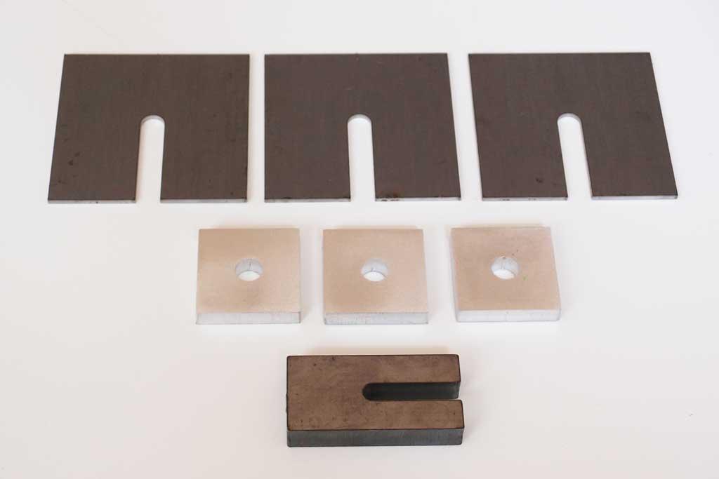 Unterlegplaten, Unterlegbleche, Distanzplatten