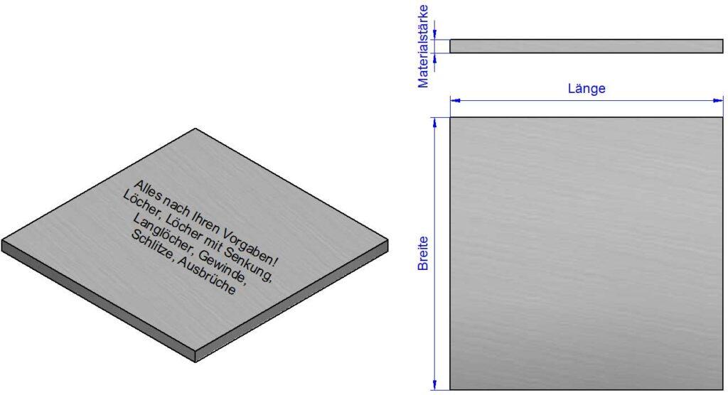 Unterlegplatten, Distanzplatten nach Maß